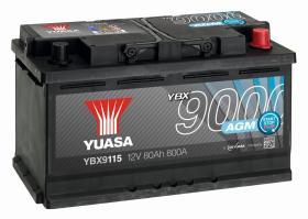 Yuasa YBX9115 - BATERIA AGM 12V 70AH 760A YUASA AGM START STOP  YBX9096